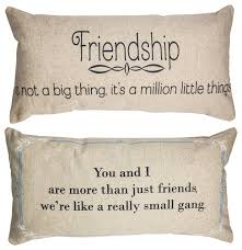 Pillow Quotes Enchanting Friendship Quotes Double Sided Linen Message Pillow Birthday Gift