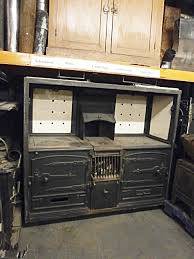0061036 nice victorian double oven cast iron kitchen range h 166cm x 189 x 65 cad stockyard prop and backdrop hire