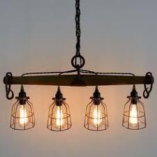 modern rustic lighting. Rustic Industrial Yoke Chandelier, Modern Lighting, Four Light Lighting I