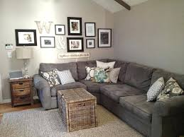 grey couch living room decorating ideas the best taupe sofa neutral on dark gray in coma studio inspire me please party gallery wall