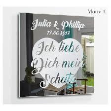 Motivspiegel I Love You Ich Liebe Dich Gravuren Geschenke Hochzeit Jahrestag Wanddeko Glasbilder Wandbilder