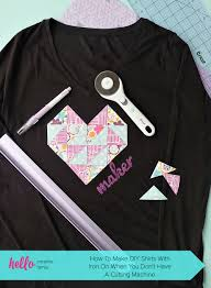 To Make Shirts How To Make Diy Shirts With Iron On When You Dont Have A