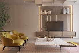 One Room Living Space Interior Design Ideas Dubai Sketch58