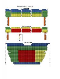 Virginia Theater Seating Chart Chrysler Hall And Sandler Seating Charts Virginia Beach