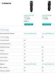 Logitech Harmony Remotes Comparison Chart Logitech Harmony 300i Vs 200 Comparison Differences