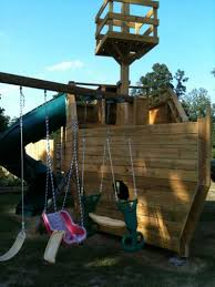 picture of wooden pirate ship playhouse
