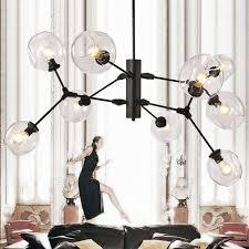 new modern pendant hanging chandeliers for living dining room modern chandelier e27 black gold glass suspension chandeliers wine barrel chandelier