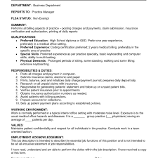 medical billing coding job description medical billing supervisor resume sample with medical coding and