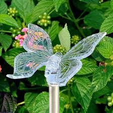 Dragonfly Garden Lights Amazon Com Hm Solar Garden Stake Lights Hummingbird