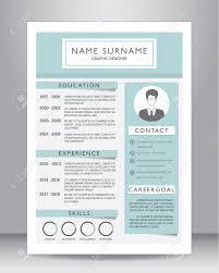 Job Lebenslauf Oder Cv Vorlage Layout Vorlage Im A4 Format Vektor
