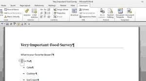 Make A Survey In Word How to Create a Survey With Radio Buttons in Microsoft Word Office 1