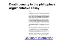 death penalty in the argumentative essay google docs