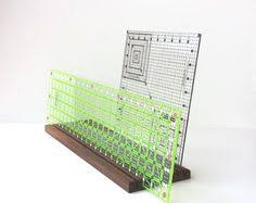 Junior Ruler Organizer Wonder if my husband could make one like ... & Quilting template storage table top rack, quilt ruler holder, repurposed /  reclaimed cherry or Adamdwight.com