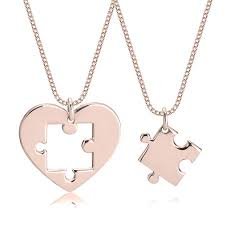 heart puzzle piece necklace