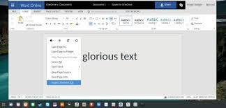 Small Picture Change document background color in MS Office Online