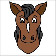 horse head clip art color. Brilliant Color Clip Art Cartoon Animal Faces Horse Color I Abcteachcom  Preview 1 And Head Art