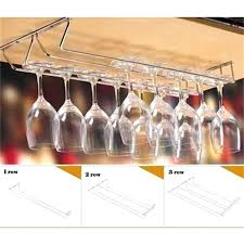 stemware holder wine cup wine glass holder hanging drinking glasses stemware rack under cabinet storage organizer