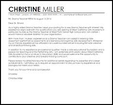 Cover Letter For A New Music Teacher Adriangatton Com