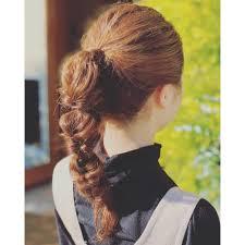 編み込みポニーテール Sageサージュのヘアスタイル 美容院美容室