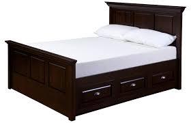 bed with drawers under. Simple Drawers Queen Bed With Drawers Underneath And White Pillows Mattress Inside Under E