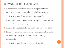 eng writing chapter from paragraph to essay ppt video  2 expanding the paragraph