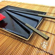 50 black chopsticks fan design