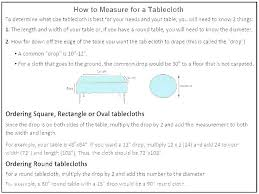 Oval Size Chart Rectangle Tablecloth Sizes Size Chart Table