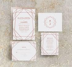 Rose Gold Wedding Invites Rose Gold Foil Invitations Rose
