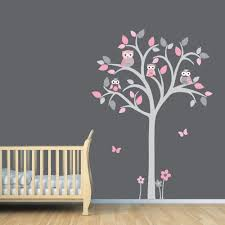 owl tree decal owl tree wall sticker owl nursery art owl owl tree wall sticker