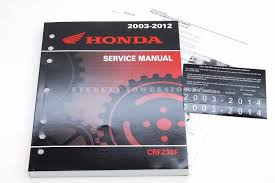 New Service Manual 2003 2014 Crf230f Oem Honda Shop Repair