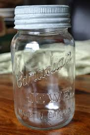 canadian jewel canning jar with zinc lid and glass top