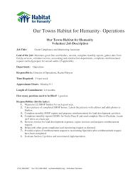 Job Description Template Volunteer Job Description Template Business Plan Template 15