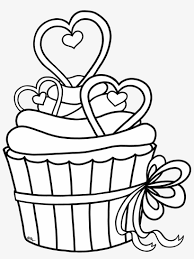 Shopkins cupcake queen colouring pages children coloring coloring #2573194. Cupcake Outline Clipart Heart Cupcake Coloring Pages Free Transparent Png Download Pngkey