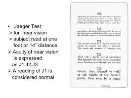 Jaeger 2 Eye Chart Eyes Vision Eye Vision J1