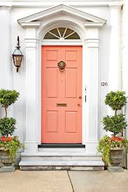 Orange front door Inside Charleston Door Pink Houzz What Does Your Front Door Color Say About You Southern Living