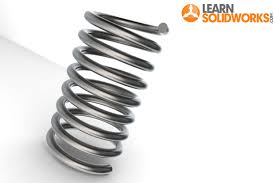 metal spring coil. solidworks spring tutorial metal coil