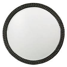 the howard elliott collection 32 in x 32 in round framed mirror in antique