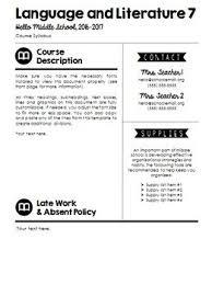 Visual Syllabus Template Pack 1 Creative Editable