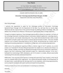 Cover Letter Sample For Federal Government Job Cover Letter Samples