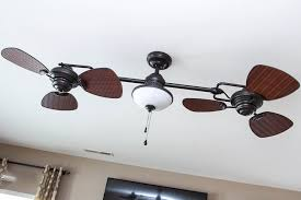 this ceiling fan fits perfectly in the game room generally because of its light kit that comes with frosted glass shades that give a bright glow