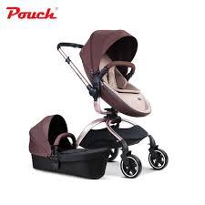 ซ อท ไหน pouch luxury high quality baby stroller 3 in 1 baby strollers leather 3 colors car seat baby basket baby carriage sleeping bask ในประเทศไทย