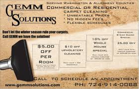 carpet cleaning flyer carpet cleaning pittsburgh washington pa gemm solutions
