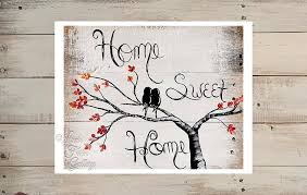 Small Picture Home Sweet Home with Love Birds Fall Colors Art Print Linda