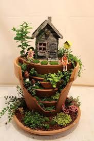fairy garden pots. Broken Pot Fairy Garden - This Looks Much Nicer Than My Garden! Pots A