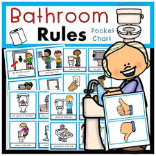 Bathroom Rules Pocket Chart Sort Beginning Of The Year
