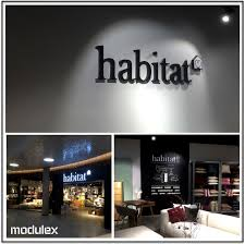 Modulex has delivered facade sign with light and indoor graphics