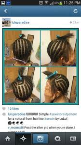 Middle Part Braid Pattern Best 48 Best Flawless Hair SEWIN BRAID PATTERNS Images On Pinterest