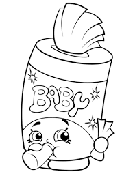Baby Swipes Shopkin Coloring Page Free Printable Coloring Pages