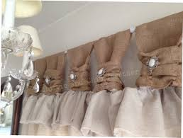 burlap country kitchen curtains