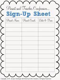 Parent Sign Up Sheet Conference Sign Up Sheet Under Fontanacountryinn Com